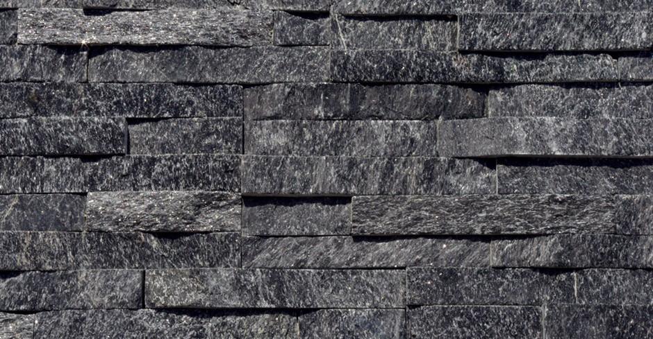 3d Grey Stone Wallpaper Sample Black Quartz Split Face Mosaic Tile